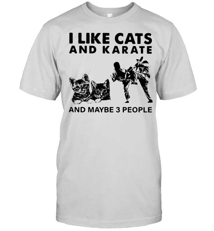 I Like Cats And Karate And Maybe 3 People shirt Classic Men's T-shirt