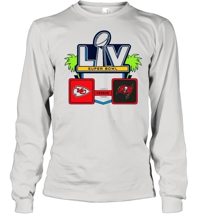 Nfl super bowl lv 55 kansas city chiefs vs tampa bay buccaneers 2021 shirt Long Sleeved T-shirt