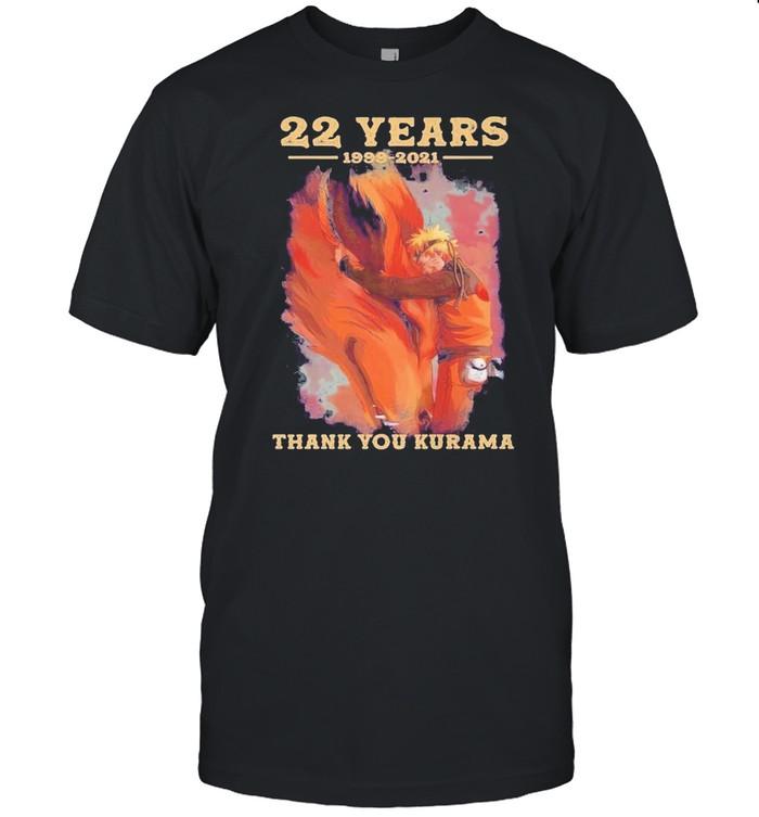 22 years naruto 1999 201 thank you kurama shirt Classic Men's T-shirt
