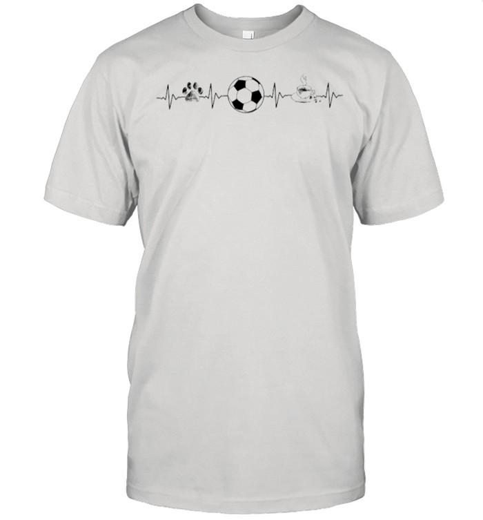 Heartbeat Dog Soccer And Coffee shirt Classic Men's T-shirt