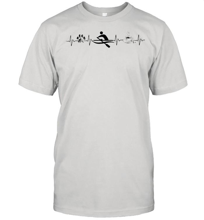 Paw Dogs Rowing Coffee Heartbeat shirt Classic Men's T-shirt