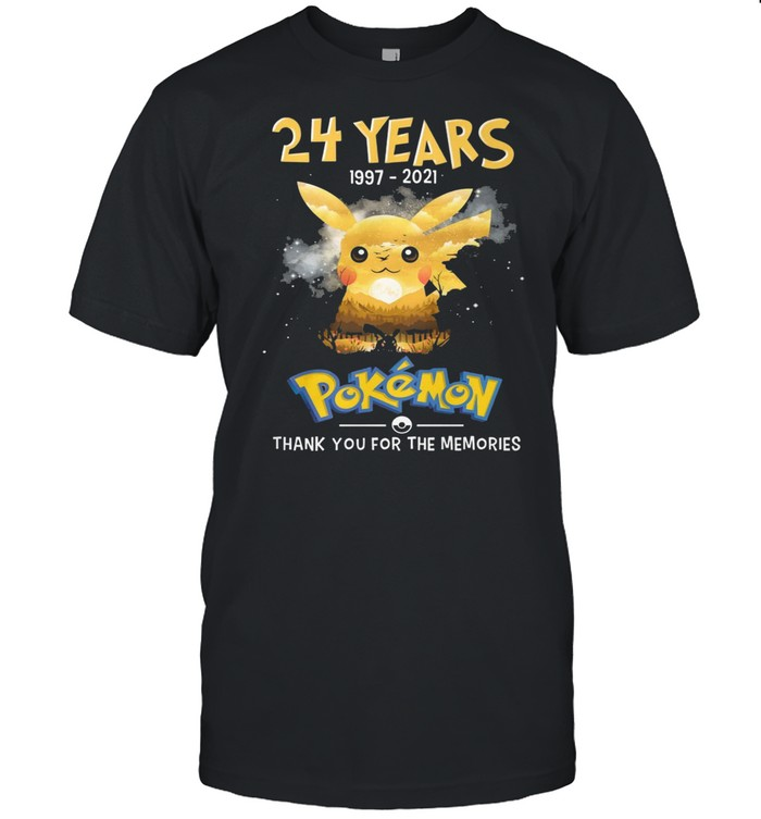 24 Years Of Pokemon 1997-2021 Thank You For The Memories  Classic Men's T-shirt