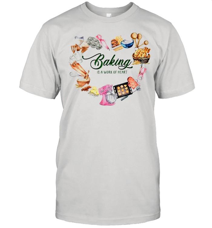 Baking Is A Work Of Heart shirt Classic Men's T-shirt
