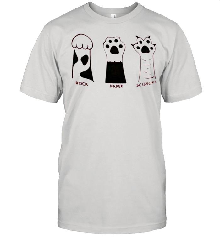 Cat paw rock paper scissors shirt Classic Men's T-shirt