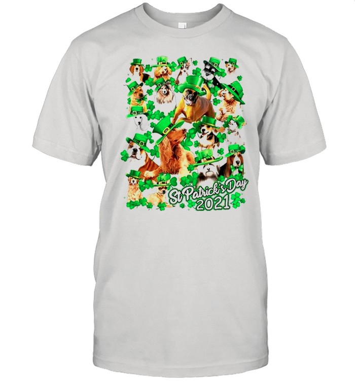 Dogs Happy St Patricks Day 2021 shirt Classic Men's T-shirt