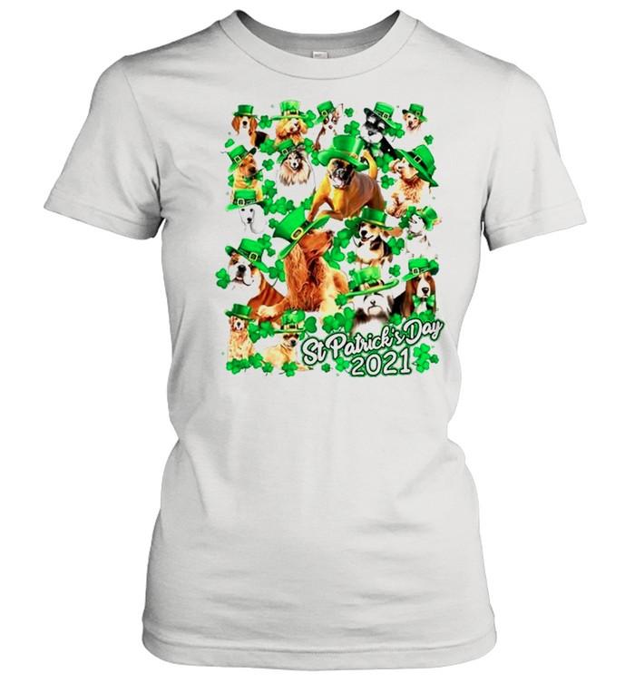 Dogs Happy St Patricks Day 2021 shirt Classic Women's T-shirt