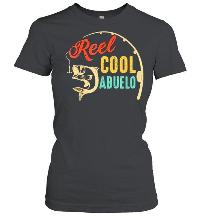 Fathers day fishing reel cool abluelo vintage shirt Classic Women's T-shirt