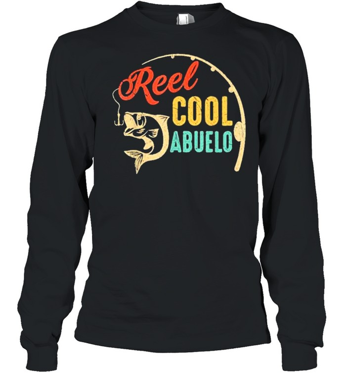 Fathers day fishing reel cool abluelo vintage shirt Long Sleeved T-shirt