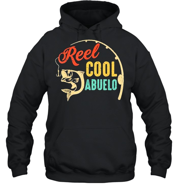 Fathers day fishing reel cool abluelo vintage shirt Unisex Hoodie