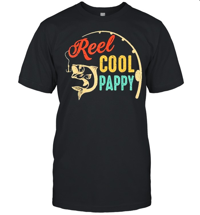 Fathers day fishing reel cool pappy vintage shirt Classic Men's T-shirt