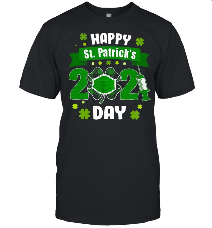 Happy St Patrick's Day 2021 Face Mask With Covid-19 shirt Classic Men's T-shirt
