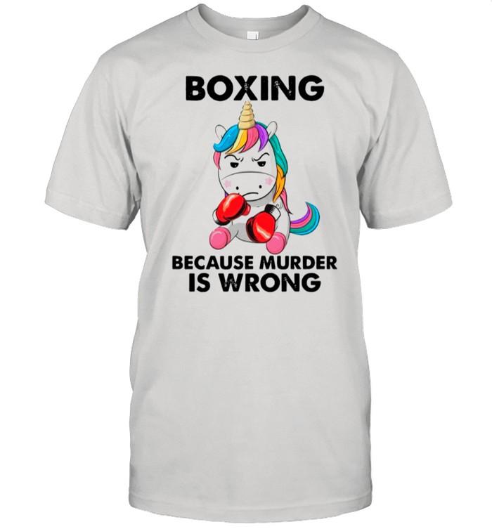 Unicorn Boxing Because Murder Is Wrong shirt Classic Men's T-shirt