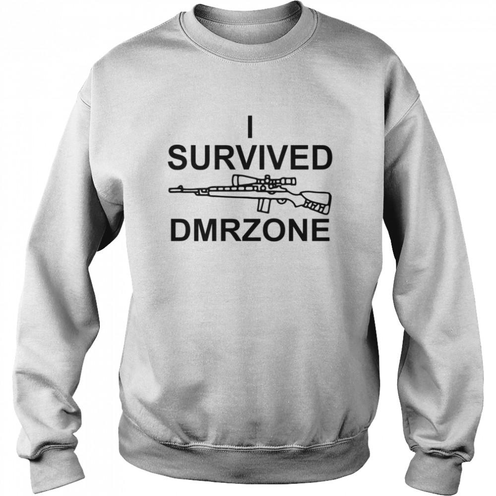 I survived dmrzone shirt Unisex Sweatshirt
