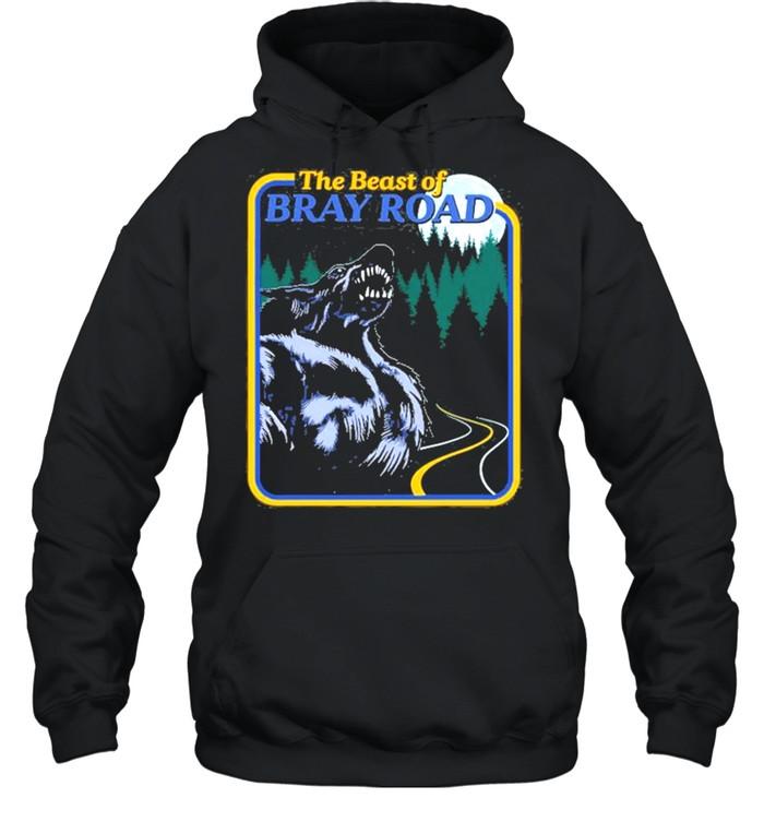 The Beast Of Bray Road Retro Wisconsin Dogman Cryptid shirt Unisex Hoodie