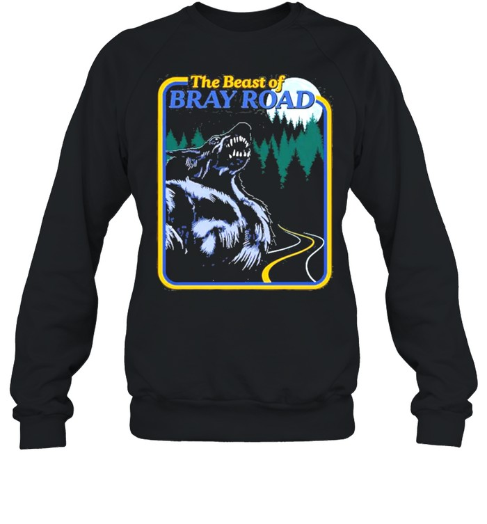 The Beast Of Bray Road Retro Wisconsin Dogman Cryptid shirt Unisex Sweatshirt