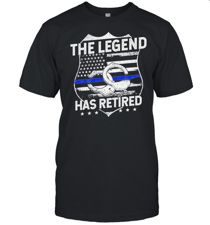 The Legend Has Retired Police Officer Retirement shirt Classic Men's T-shirt