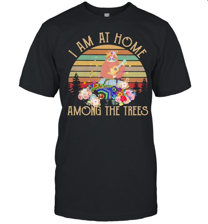I Am At Home Among the Trees Sloth Vintage  Classic Men's T-shirt