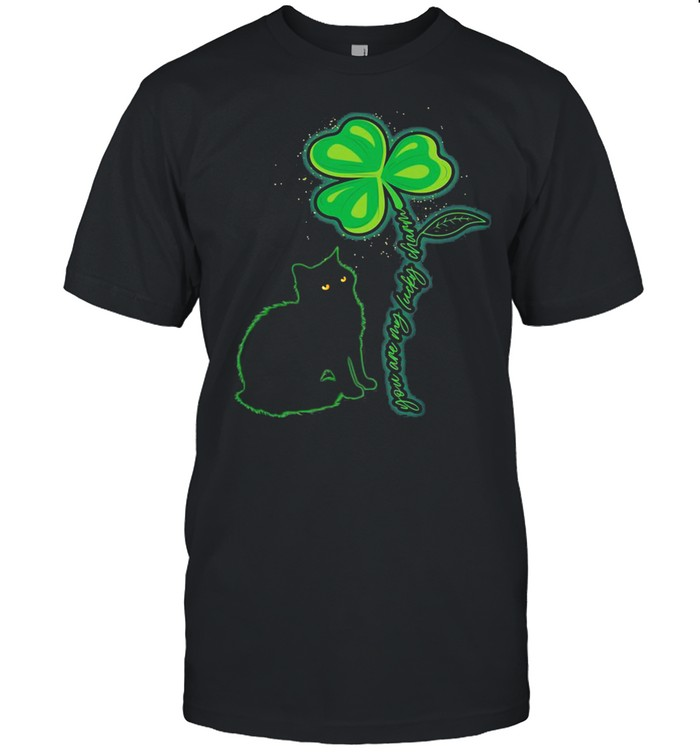 St Patricks Day Black Cat  My Lucky Charm  Classic Men's T-shirt