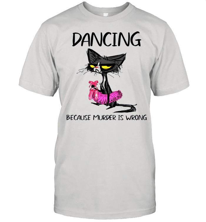 The Black Cat Dancing Because Murder Is Wrong shirt Classic Men's T-shirt