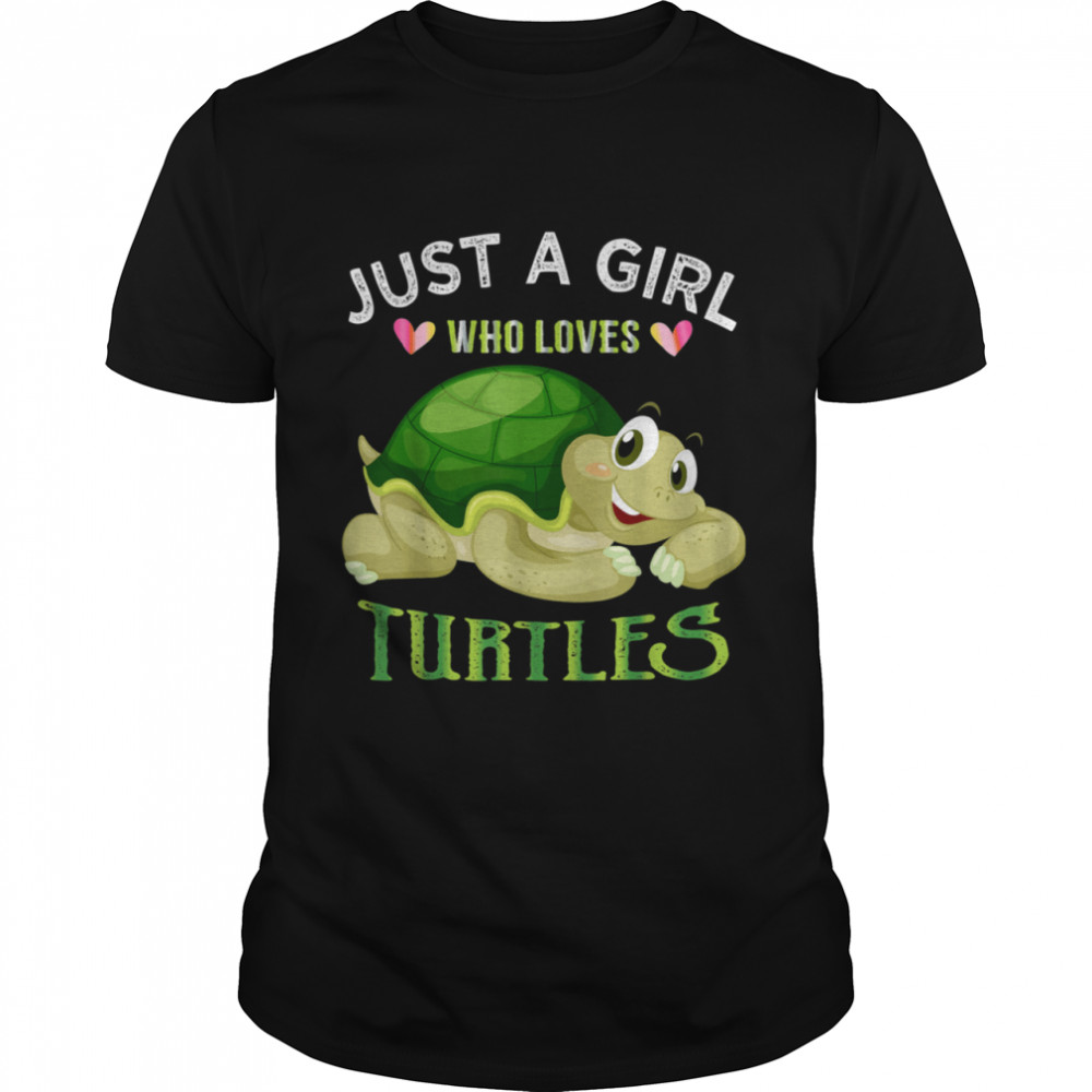 Turtle Just A Girl Who Loves Turtles shirt Classic Men's T-shirt