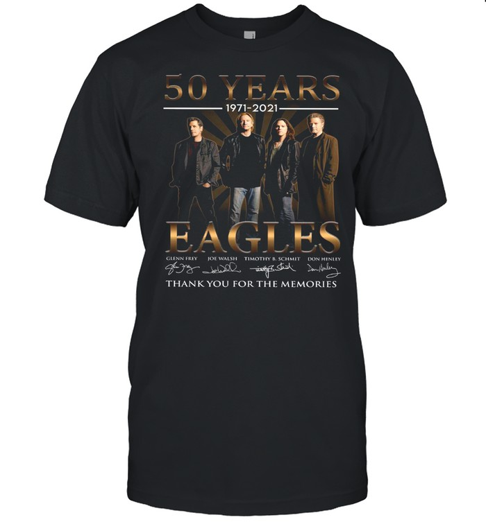 50 Years 1971 2021 Eagles Thank You For The Memories shirt Classic Men's T-shirt