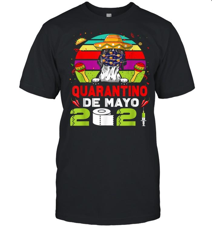 Pointer Dog Mask Quarantino Cinco De Mayo 2021 shirt Classic Men's T-shirt