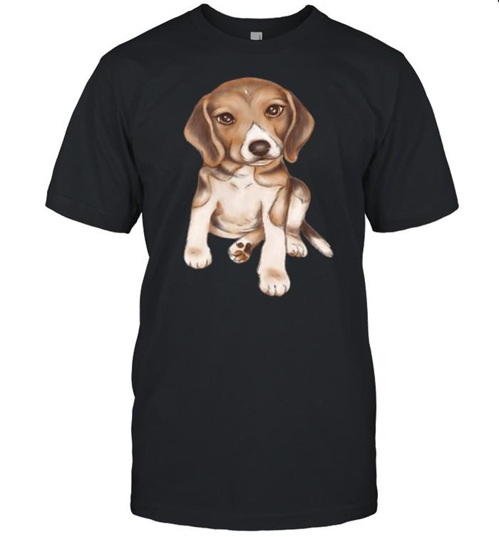 Beagle dog breed puppy art shirt Classic Men's T-shirt