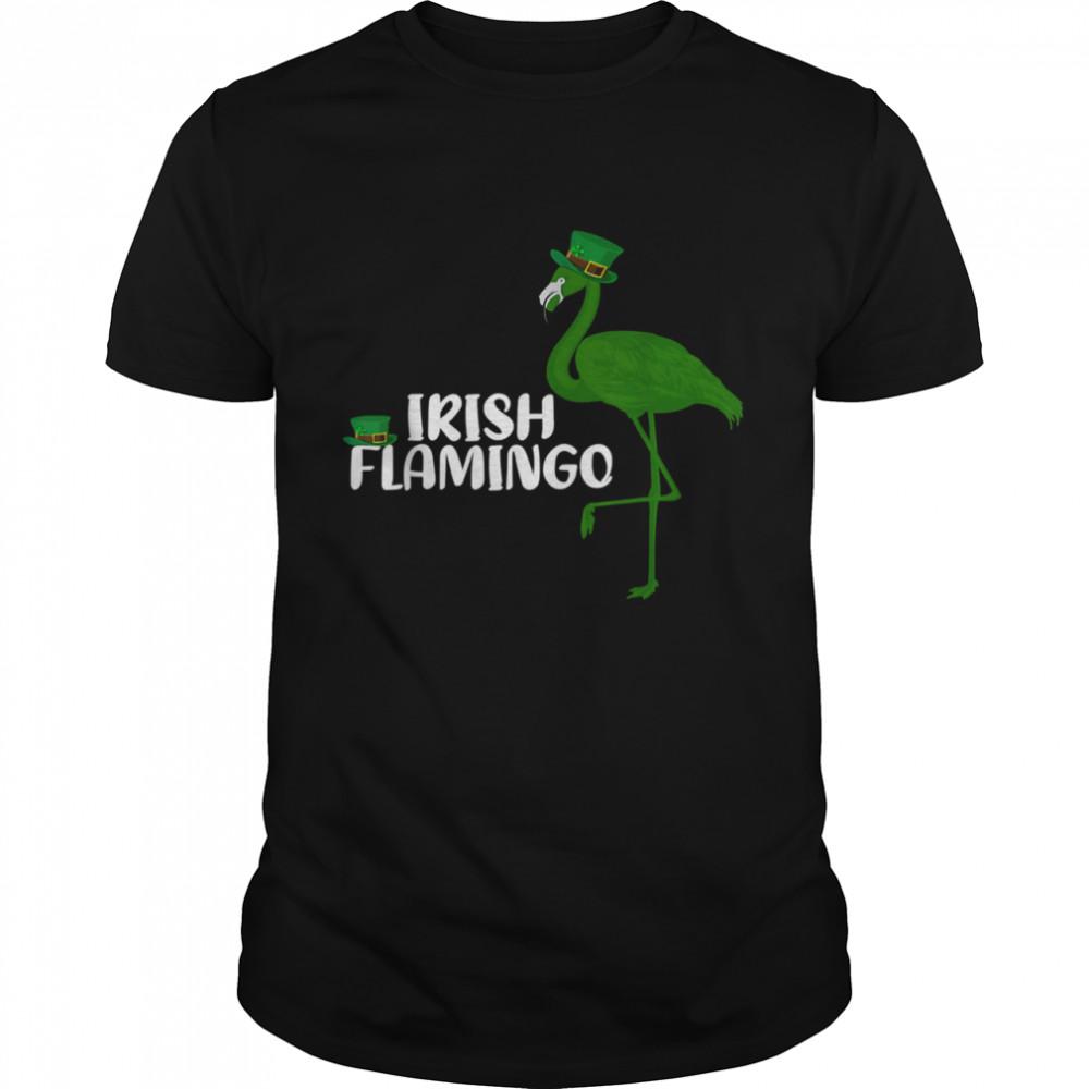 Leprechaun Hat Irish Flamingo St. Patrick's Day shirt Classic Men's T-shirt