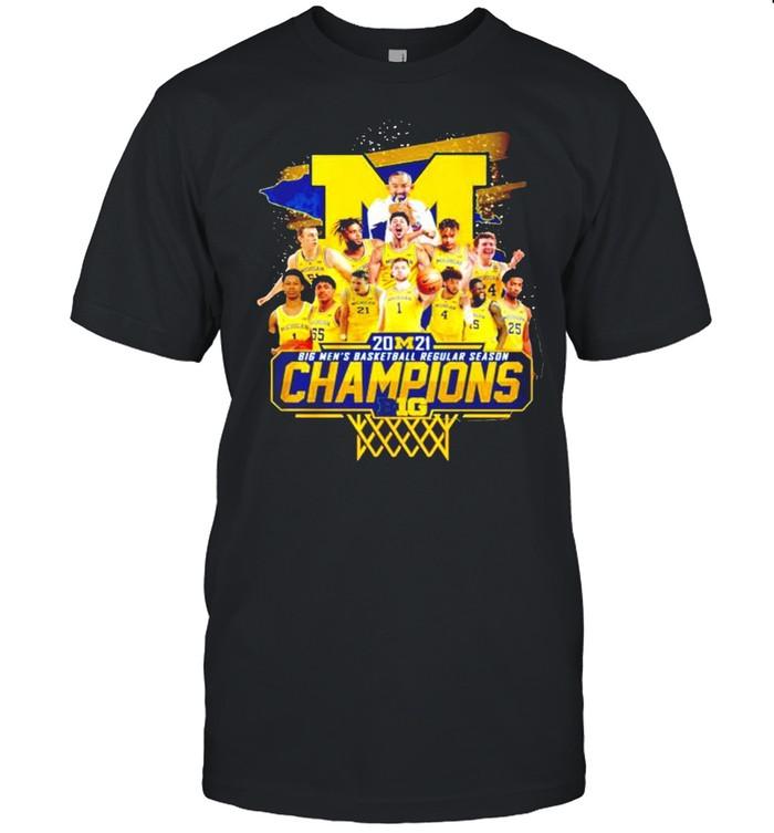 Michigan Wolverines 2021 Big Men's basketball regular season champions shirt Classic Men's T-shirt