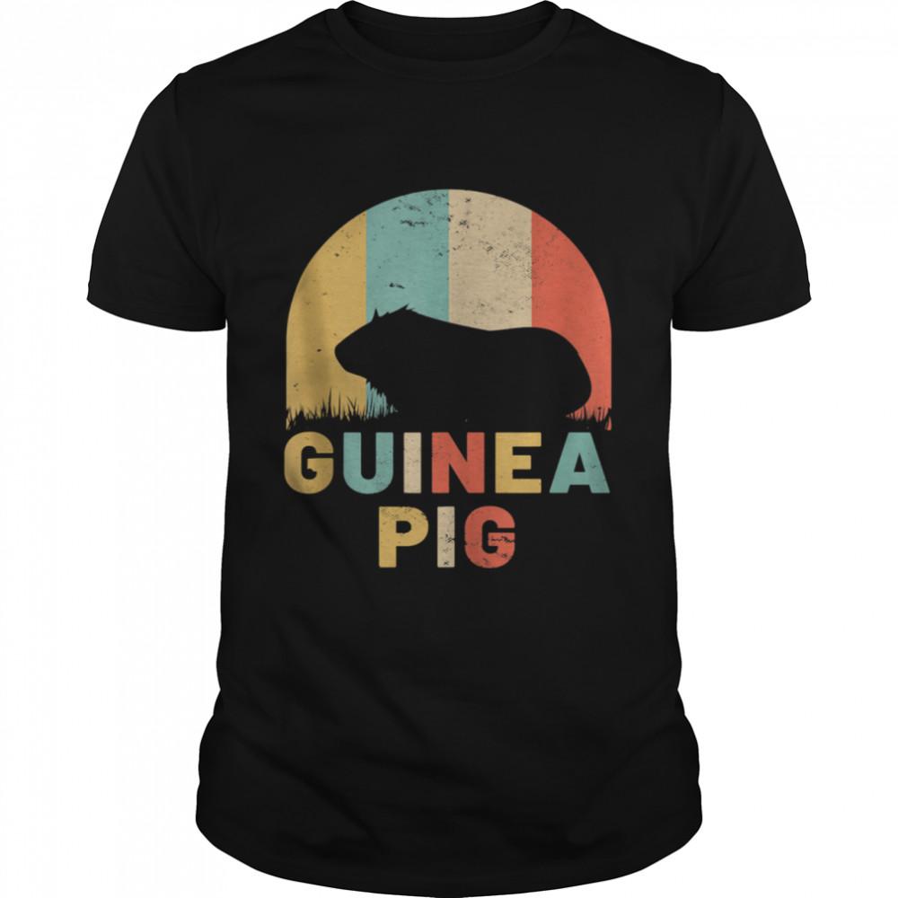 Guinea Pig Vintage Sunset Retro Pet Rodent shirt Classic Men's T-shirt