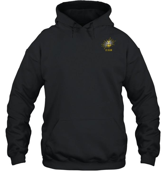 1% Club Navy Master Chief E9 MCPO Pride Unisex Hoodie
