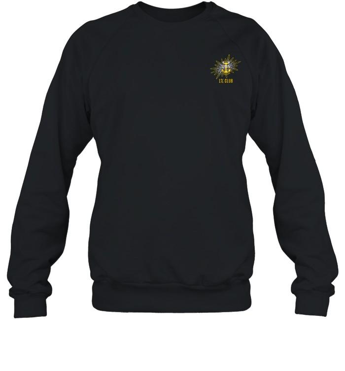 1% Club Navy Master Chief E9 MCPO Pride Unisex Sweatshirt