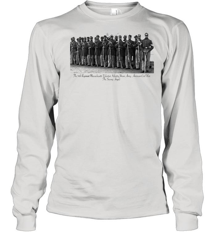 US Civil War Legacy All Black Regiment  Long Sleeved T-shirt
