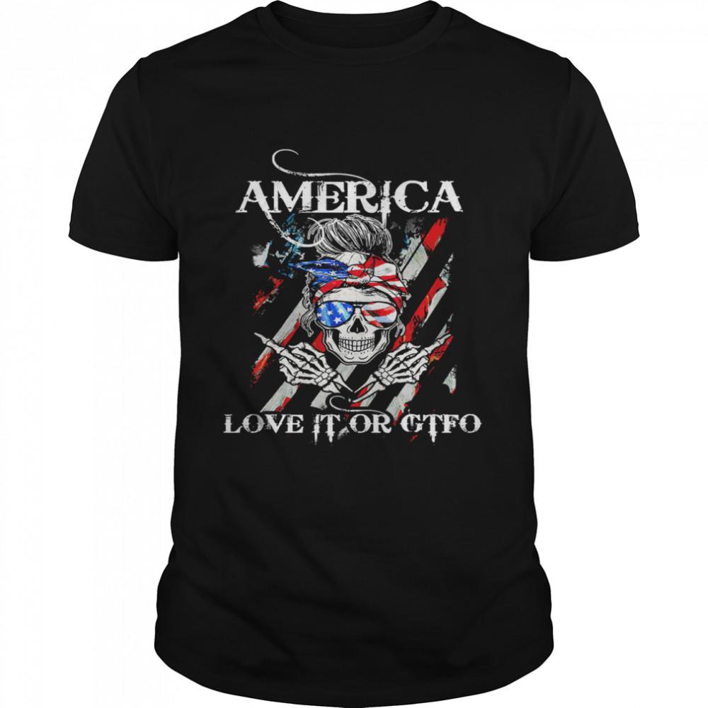 Skull America love it or gtfo shirt Classic Men's T-shirt