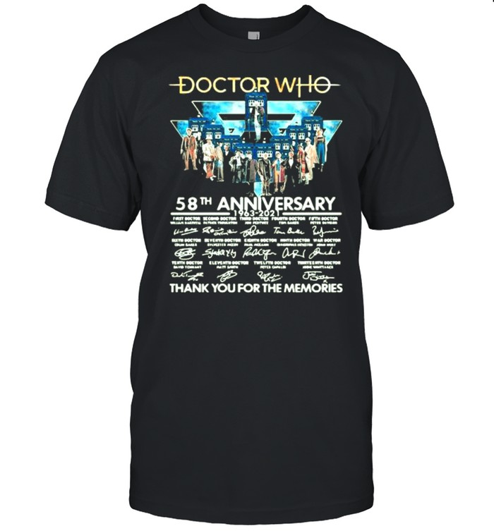 Doctor Who 58th Anniversary 1963 2021 Thank You For The Memories Signature  Classic Men's T-shirt