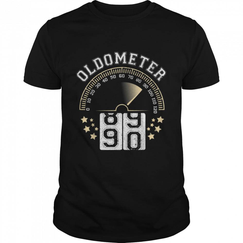 Oldometer Turning to 90 BD Retro For ManWoman  Classic Men's T-shirt