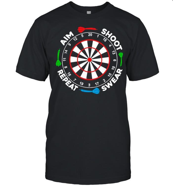Darts Aim Shoot Swear Repeat shirt Classic Men's T-shirt