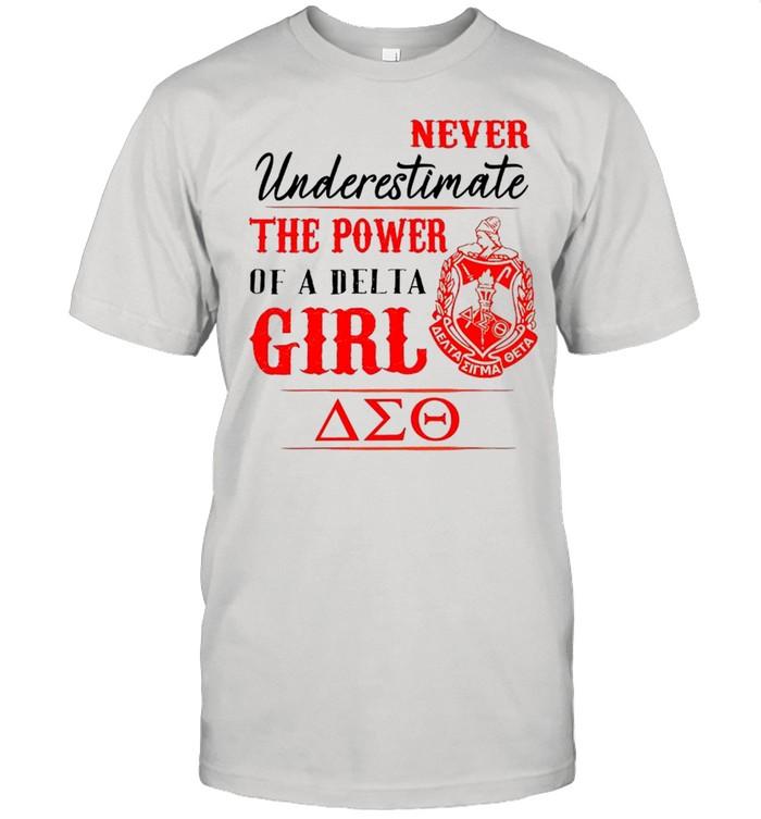 Delta Sigma Theta Never Underestimate The Power Of A Delta Girl shirt Classic Men's T-shirt