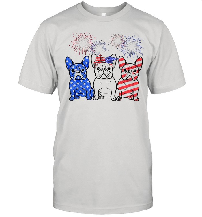 Pug American Flag 4th Of July Independence Day  Classic Men's T-shirt