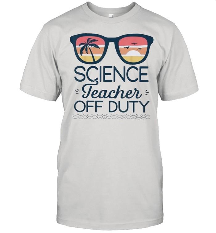 Science Teacher Off Duty Sunglasses Beach Sunset shirt Classic Men's T-shirt
