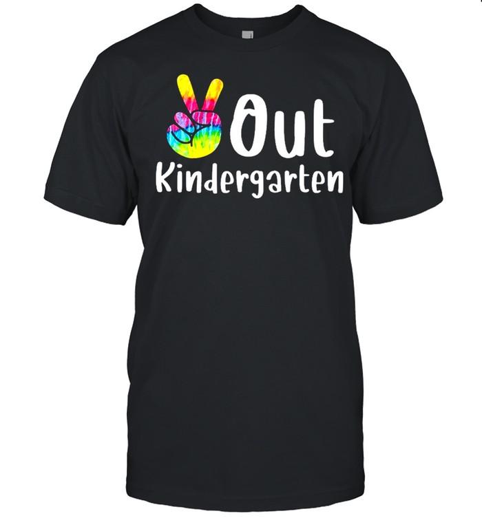 Peace out kindergarten tie dye graduation class of 2021 shirt Classic Men's T-shirt