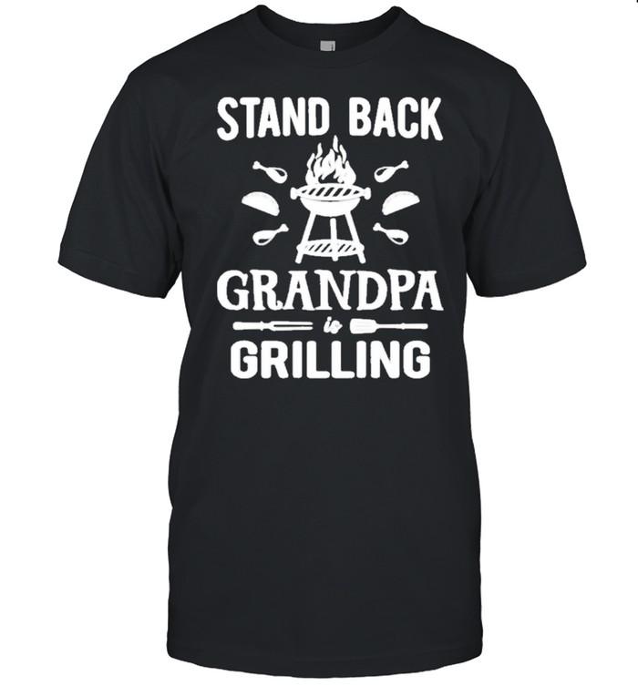 Stand Back Grandpa Grilling shirt Classic Men's T-shirt