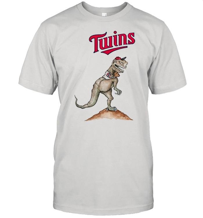 Minnesota Twins T-Rex throw a baseball shirt Classic Men's T-shirt