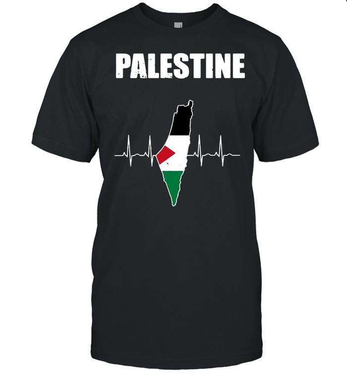 Palestine Flag Palestinian Country Map T-shirt Classic Men's T-shirt