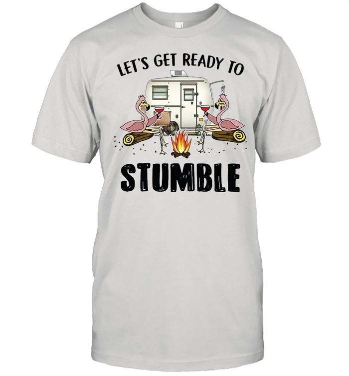 Flamingo Let's Get Ready To Stumble Camping T-shirt Classic Men's T-shirt