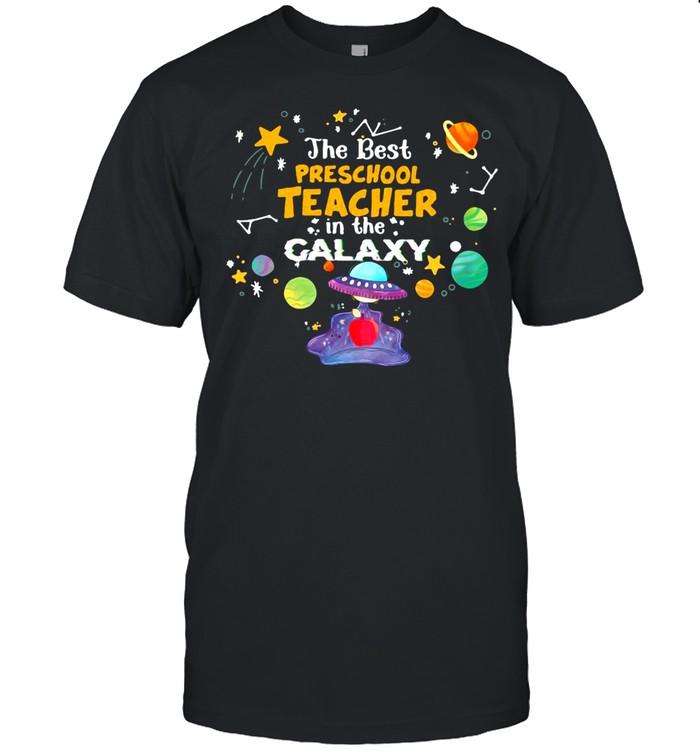 The Best Preschool Teacher In The Galaxy T-shirt Classic Men's T-shirt