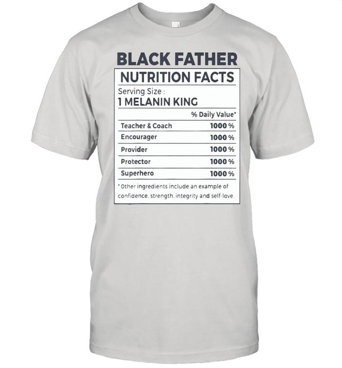 Black Father Nutrition Facts T- Classic Men's T-shirt