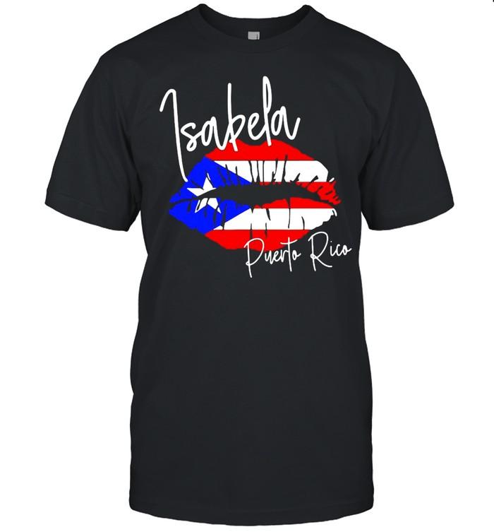 Ggt Travel Souvenir Style Isabela Puerto Rico Flag Lips T-shirt Classic Men's T-shirt
