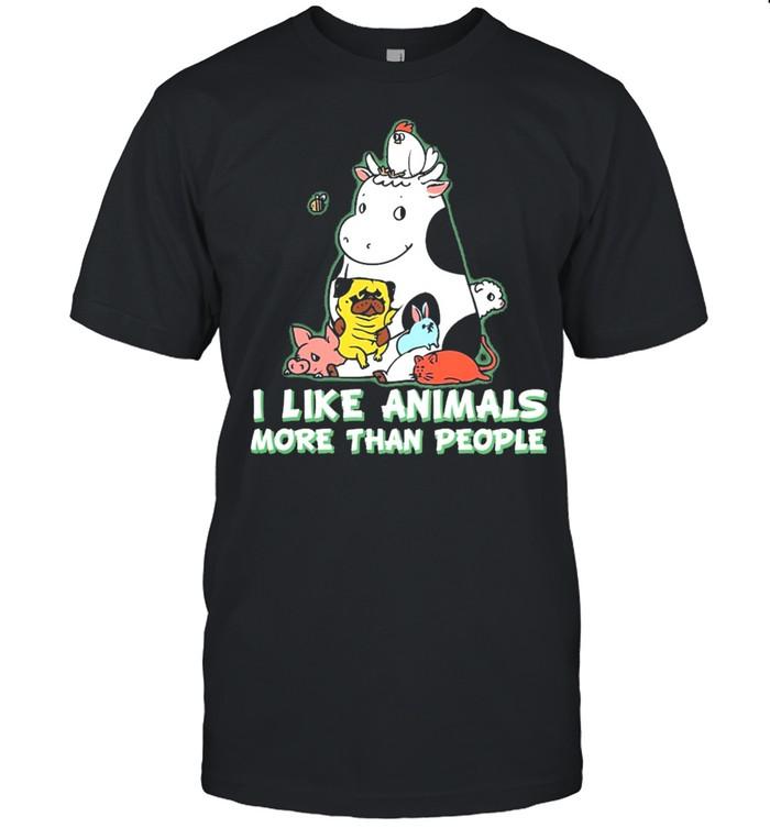 I like animals more than people shirt Classic Men's T-shirt
