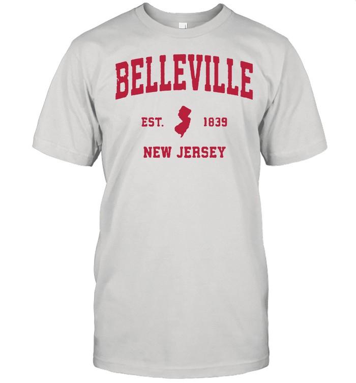 Belleville New Jersey 1839 NJ Vintage Sports T- Classic Men's T-shirt